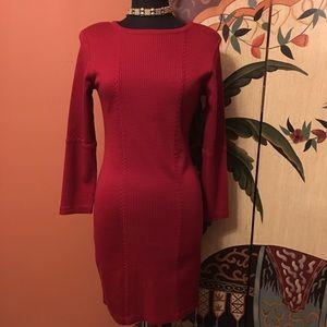 Carole Little Dresses & Skirts - Carole Little Deep Red Sweater Dress