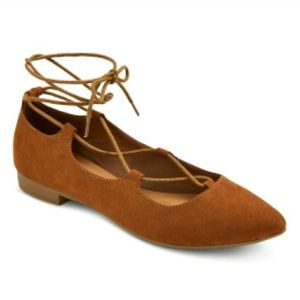 Mossimo Kady Pointed Toe Lace Up Ballet Flats