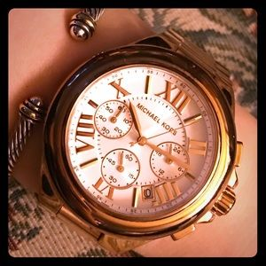 Michael Kors Rose Gold-Tone Camille Watch