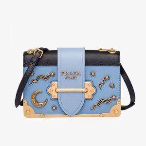 Prada Handbags - Auth Prada Celestial Cahier shoulder bag receipt