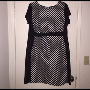 Avenue Dresses & Skirts - Black and white striped dress - plus size 22/24