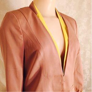 Ark & Co Jackets & Blazers - NWT Blush Blazer with pop of yellow!