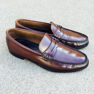 Florsheim Other - Florsheim Men's Shoes Burgundy Leather Slip On