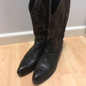 Dan Post Other - Dan Post Black & Brown Cowboy Boots