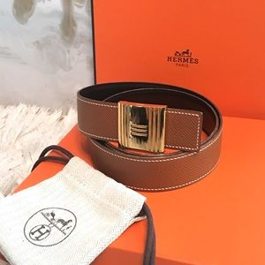 Hermes Accessories - Auth Hermes Cadena Reversible Belt Kit - Sz 75