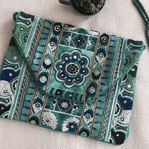 Reclaimed Vintage Handbags - New item! 🌷 NWOT✨Boho beaded clutch!