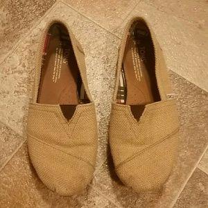 TOMS Burlap Shoes - Womens Size 9