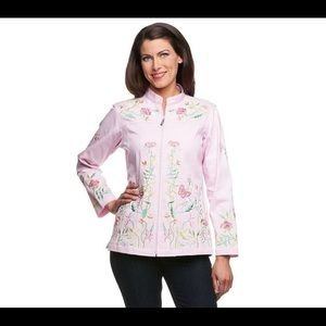 Quacker Factory Jackets & Blazers - Quacker Factory Butterfly Floral Mandarin jacket