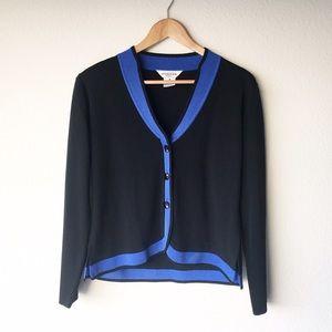 Misook Jackets & Blazers - M Misook Jacket Black Blue Petite