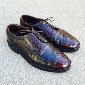 Other - Men's Shoes PebbledLeather Burgundy Wingtip Oxford