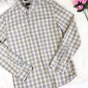 J. Crew Other - J. Crew plaid long sleeve slim button up ✨