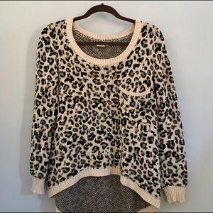Billabong Sweaters - Leopard scoop neck sweater