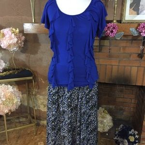 George Dresses & Skirts - George maxi skirt and blue top
