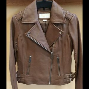 NWT Authentic Michael Kors Leather Moto jacket XS
