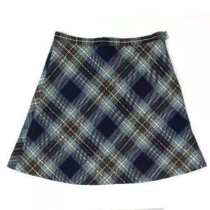 Bonpoint Girl's Brown Plaid Skirt
