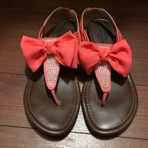 Material Girl Shoes - Bow sandals