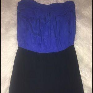 Electric blue and black Mini Dress