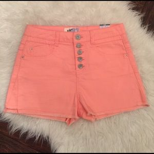 Jolt Pants - Jolt nwt neon coral high waisted shorts. Button up
