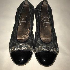 Attilio Giusti Leombruni Shoes - AGL ballerina flats size 36 (us 6) gray black