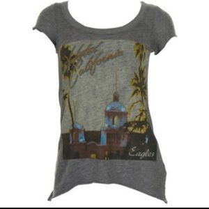 Chaser Tops - Chaser eagles hotel California gray  shirt