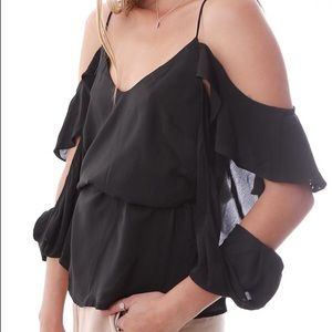 Bardot Tops - blouse with off the shoulder cascading sleeves