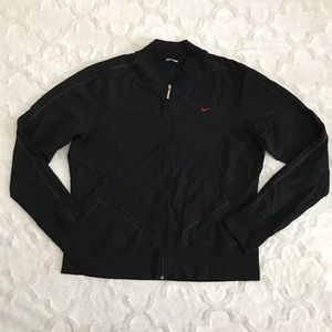 Nike zip up jacket Black and red L