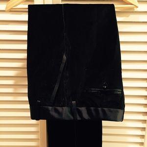 Dolce & Gabbana Pants - Dolce & Gabbana black velvet tuxedo pants