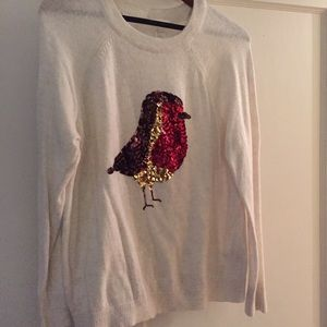 H&M sequin bird sweater
