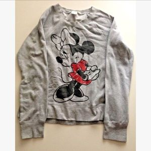 Disney Sweaters - Disney Minnie Mouse long sleeve crewneck sweater