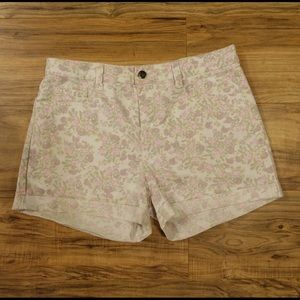 Reiss Pants - Floral denim shorts