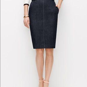 LOFT Dresses & Skirts - Ann Taylor LOFT Denim Skirt
