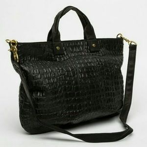 Clare Vivier Handbags - CLARE VIVIER Croc Leather 'Maison' Crossbody Tote