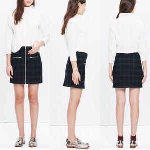 Madewell Dresses & Skirts - Madewell dark tartan plaid mini skirt green