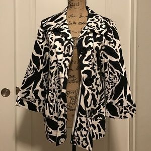 Westbound Jackets & Blazers - WESTBOUND Black/white animal print jacket