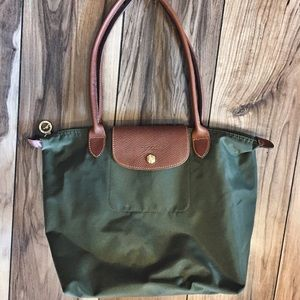 Longchamp Handbags - Longchamp Small Olive Tote
