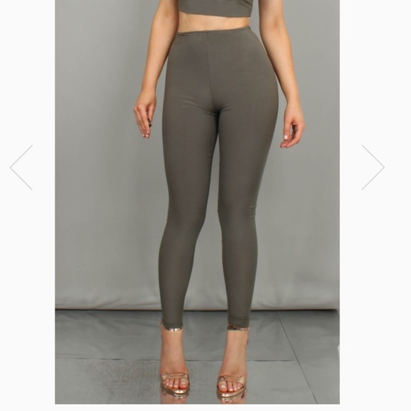 boom boom the label pants khaki double layered leggings poshmark