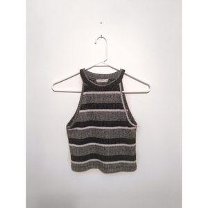 Lush Tops - LUSH striped Sweater festival 70's 90's crop top
