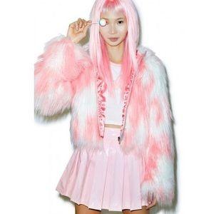 24hrs faux fur coat from DollsKill