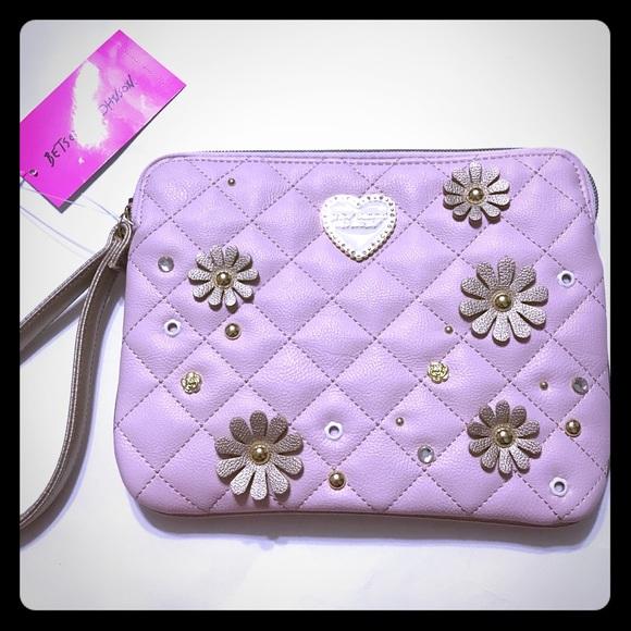 Betsey Johnson Handbags - SALE Betsey Johnson Quilted Blush Wristlet [BG-4]