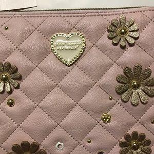 Betsey Johnson Bags - SALE Betsey Johnson Quilted Blush Wristlet [BG-4]