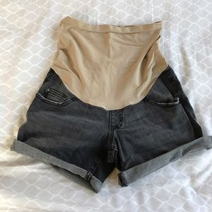 Indigo Blue Pants - Maternity Denim Shorts.