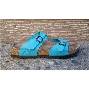 Birkenstock Shoes - Birkenstock freeport blue slides
