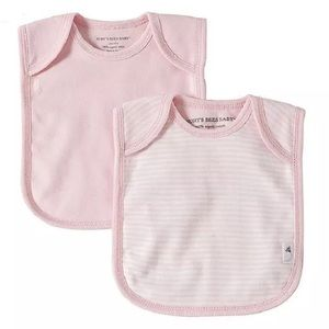 Burt's Bees Baby Other - Bee Essentials set of 2 Bibs, Blossom