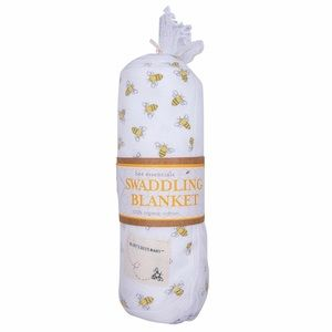 Burt's Bees Baby Other - Bee Essentials 1 Ply Swaddling Blanket-Honey Bee