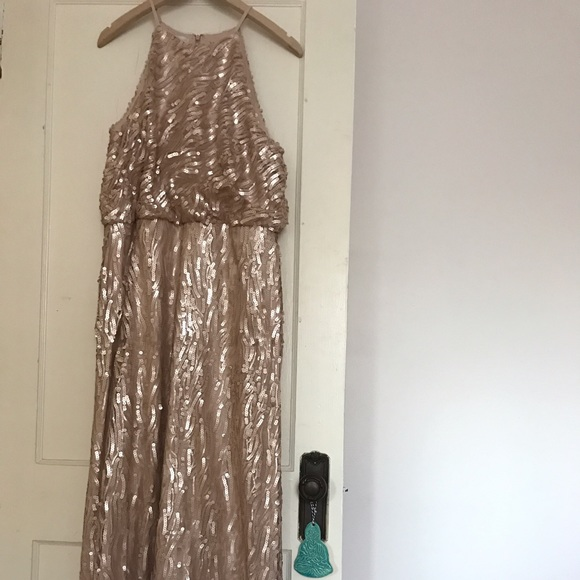 268a9484852 BHLDN Dresses   Skirts - Rose Gold BHLDN Sequined Alana Dress