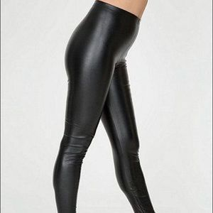American Apparel Pants - American Apparel Coated vegan leather leggings / S