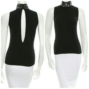 Blumarine Tops - NWT Sexy Embellished Turtleneck w Cutout Back