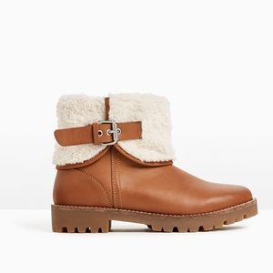 Zara ankle boots with faux fur lining