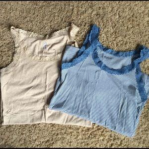 2 Gap maternity stretch tank tops