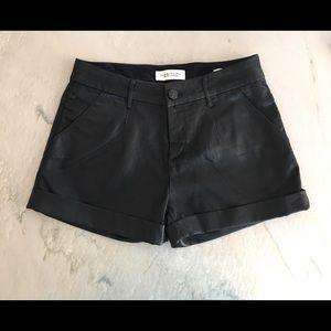 Habitual Pants - Habitual Teo Black Leather Shorts